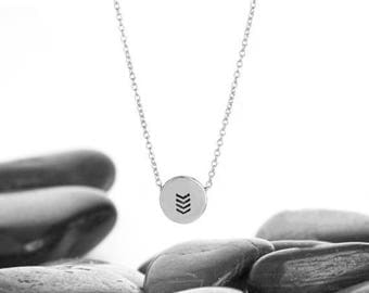 Chevron Necklace, Chevron, Geometric Necklace, V Necklace, Geometric Jewelry, Minimalist Necklace, Layering Necklace, Simple Necklace, n246S