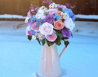 Wedding bouquet, Alternative bridal bouquet, Clay bouquet, Bridesmaid bouquet, Floral bouquet, Rustic wedding, Summer wedding, Fireweed