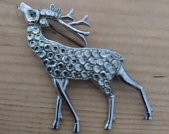 Vintage deer brooch