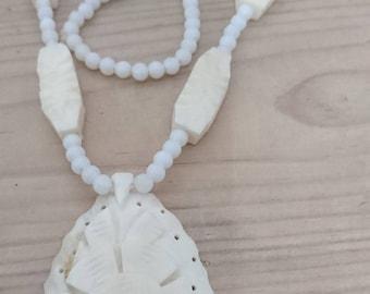 Vintage bone bead necklace