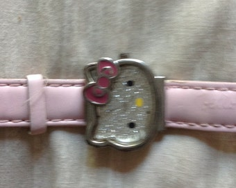 Hello Kitty Watch, Vintage Hello Kitty Pink Watch, Pink Rhinestone Face, Hello Kitty, Sanrio HK1158, Pink