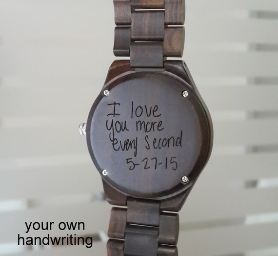 Engraved Wooden Watch Valentines Day Gift Personalized By