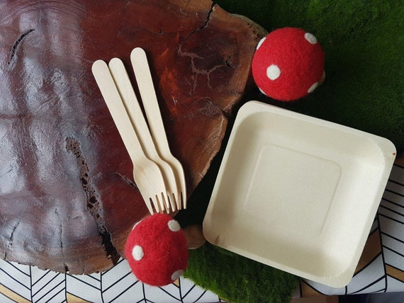 10 x wood plates cake plates canape party plates for Wedding canape alternatives
