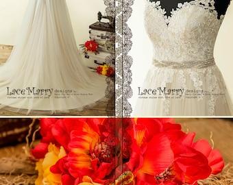 Light Wedding Dress in Bohemian Style | Beach Wedding Dress, Boho Wedding Dress, Summer Wedding Dress, A Line Wedding Dress, Bridal Dress