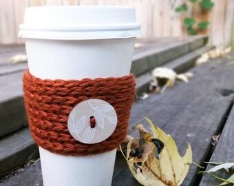 Coffee Cozy - Crochet Coffee Cup Cozy - Coffee Lovers Gift - Coffee Cup Sleeve - Coffee Cup Holder - Tea Lover Gift - Rustic Coffee Mug Cozy
