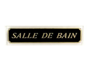 Plaque de porte salle de bains etsy for Salle de bain door sign