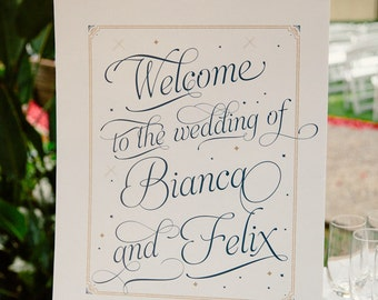 Custom Wedding Reception Welcome Sign - Personalized Print