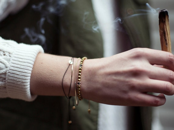Gemstones bracelet handmade in Montreal