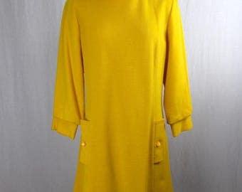 1970's Carol Brent Long Sleeve Dress Wool Knit