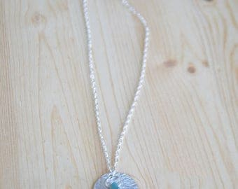 Turquoise Necklace Silver - Drop Pendant Necklace - Turquoise Silver Necklace - Custom Necklace Pendant - Silver Necklace Pendant