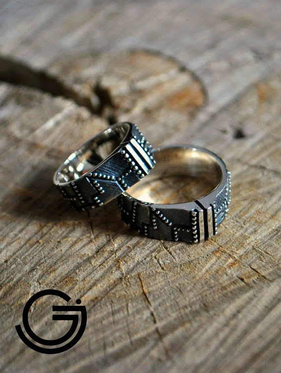 like this item - Steampunk Wedding Rings