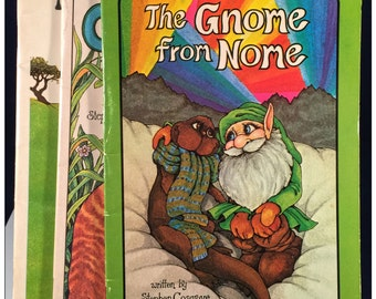 The GNOME from Nome, In Search of the SAVEOPOTOMAS & CATUNDRA Serendipity Childrens Books by S. Cosgrove and R. James - Great Vintage Fun!
