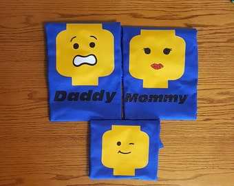 Custom Lego Family Matching Shirts/Legoland/Lego Inspired Shirts/Family Matching Shirts/Glitter Shirts/Lego Family Shirts