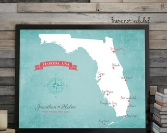 """US State Wedding Map, Wedding Guest Book Alternative Map, Choose Your State, Wedding Gift Map, Guest Book Map, up to 30"""" x 40"""""""
