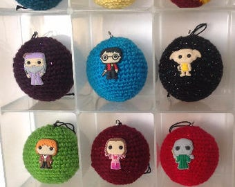 Harry Potter inspired crochet Baubles