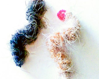 Caterpillar Cat Toys, Set of 4, Handmade Cat Toys, Kitten Play, Yarn Cat Toy, Cat Gifts, Spring Cat Toys, Bug Toys