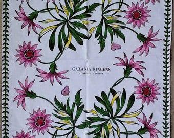 Portmeirion Potteries Ltd. Botanic Garden Treasure Flower Print Large Kitchen Tea Towel - 100% Cotton - Made in Britain - New Old Stock