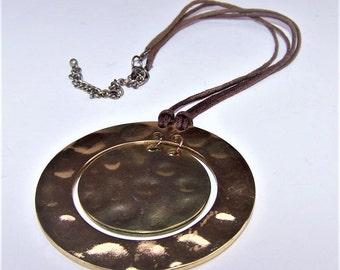 Vintage Gong Sun Symbol Necklace