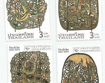 4 Mint Amazing Thailand Thai Art Postage Stamps