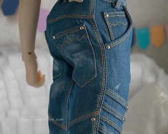 Washed blue jeans for 70+ BJD boy (fit 5th motif body)