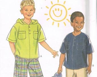 Size 2-7 Boys Shorts Pants Shirt & Top Sewing Pattern - Boys Shorts Pattern - Boys Shirt Pattern - Boys Pants Pattern - New Look 6606