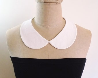 Peter Pan Collar Detachable Collar, white collar necklace