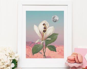 Flower prints wall art - Pop art print - Surreal poster