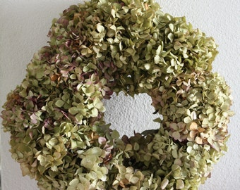 Dried Hydrangea wreath, weadding wreath, spring wreath, home decoration , floral wreath  handmade 35cm  13,7 inch