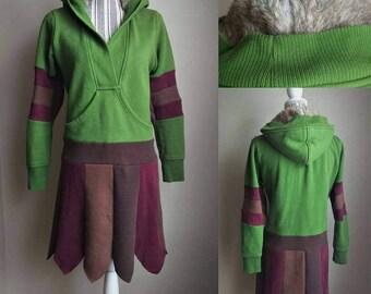 Elf Coat, Elf Jacket, pullover, pixie jacket, light jacket, boho jacket, boho dress, upcycled, eco friendly, hoodie, fantasy fashion