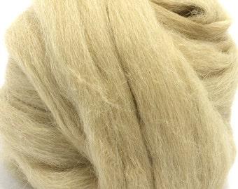Baby Alpaca Roving / Combed Top - Fawn 4 oz Braid