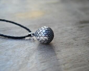 Dragon  Egg Pendant Dragon Jewelry Silver Dragon egg  Charm