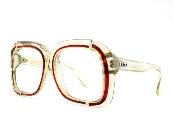 Vintage 1960s Eyeglasses   Big Clear Eyeglasses   60s Eyeglass Frame   Oversized Glasses   NOS Deadstock Eyewear - M50-3