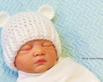 ADORABLE BEAR EARS Crochet Hat Pattern Crochet Bear Ears Hat Pattern Childrens Crochet Hat Pattern - 8 Sizes from Preemie - 12 yrs - English