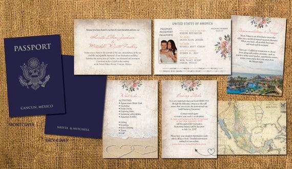 Passport Wedding Invitation Booklets Real Passport Style – Passport Wedding Invites