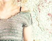 bohemian top - spring fashion - knit top - womens top - summer top - boho top  - crochet for sale