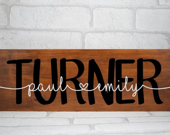 Personalised Wedding Sign, Family Name Plaque, Personalised Couple Plaque, Family Surname Sign