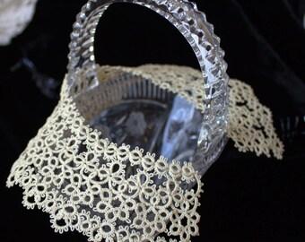 Beige lace collar Ivory tatted lace Ecru Elegant necklace Detachable collar Tatting jewelry Frivolite Wedding necklace Filigree Occhi Boho