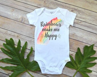 Rainbow Baby shirt, Rainbows make me happy, Special Baby Gift, Rainbow Shower Gift, Pregnancy After Loss, Rainbow Baby Gift, Rainbow Shirt