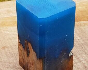 Resin and wood bottle stopper blank