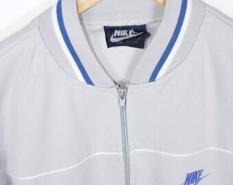 80s NIKE track jacket - vintage 1980s - blue tag - swoosh logo