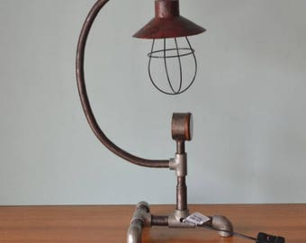 Vintage industrial desk lamp lighting  custom made