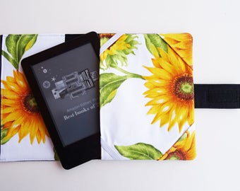 Author accessories and handmade items by handmadenel on etsy sunflowers fabric ebook case kindle paperwhite denim cover kindle paperwhite case kindle voyage fandeluxe PDF