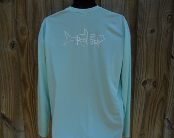 Performance Sun Protective Dry-fit Tarpon Fishing Dry-fit Shirts by Reel Fishy