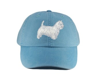 Westie embroidered hat, baseball cap, dog lover gift, pet mom cap, dad hat, mom, gift for pet lover, dog agility, westhighland terrier