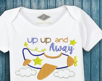 50% OFF | UP UP and Away | Machine Embroidery Applique Design 4 Sizes