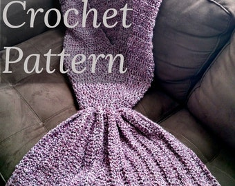 PATTERN // Child Size Mermaid Blanket // Crochet Pattern // Mermaid Tail // Mermaid Afghan