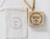 Custom Farm Stamp with Bee Box or Chicken
