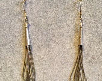 Liquid Silver Sterling Conetop Earrings