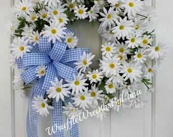 Daisy Grapevine Wreath, Daisy Wedding Wreath, Summer Daisy Wreath, Every Day Daisy Wreath, Daisy Spring Wreath, Summer Daisy Grapevine