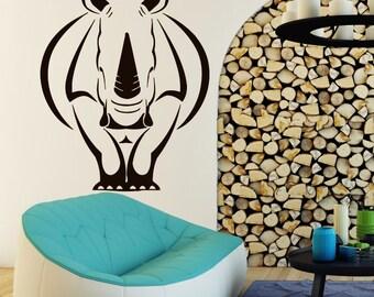 Rhino Wall Decals Animal Decal Home Vinyl Stickers Bedroom Art Decor CC32